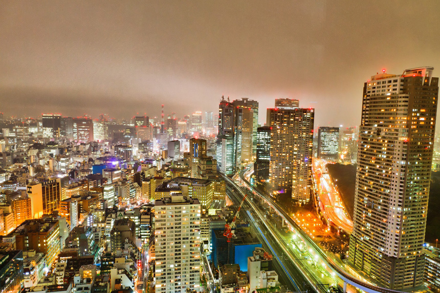 東京 都心部 夜景 企業イメージ